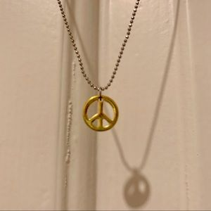 Justice peace necklace, 15-18 inches long